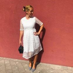 VES186 - Vestido blanco con...