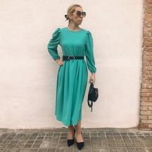 VES298 - Vestido midi verde...
