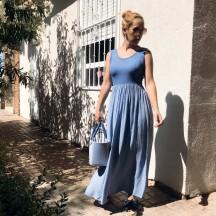 VES346 - Vestido largo azul...