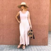 VES347 - Vestido largo rosa...