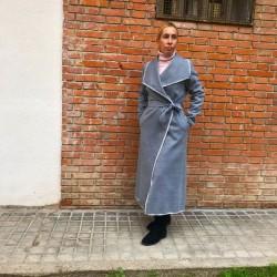 AB011 - Abrigo paño bata gris