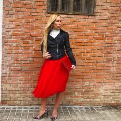 FD174 - Falda de tul roja