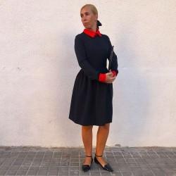 VES227 - Vestido rodilla...
