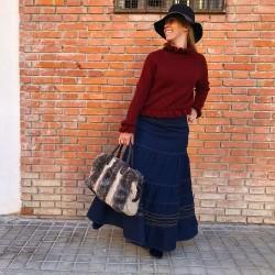 FD227 - Falda larga vaquera...
