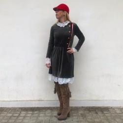 VES245 - Vestido rodilla...