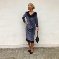 VES252 - Vestido terciopelo...