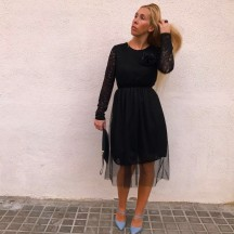 VES262 - Vestido rodilla...