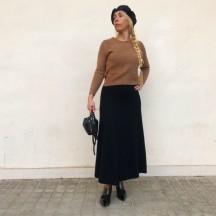 FD247 - Falda lana larga en...