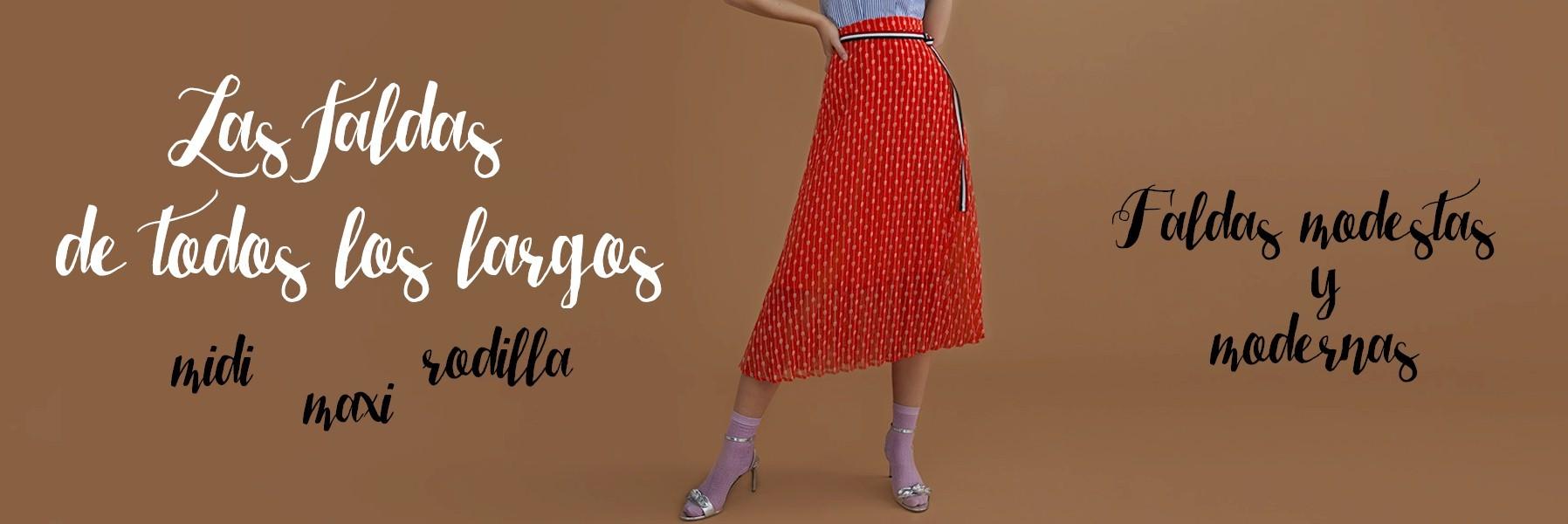 Faldas modestas y modernas: faldas maxi, midi, rodilla, tul...